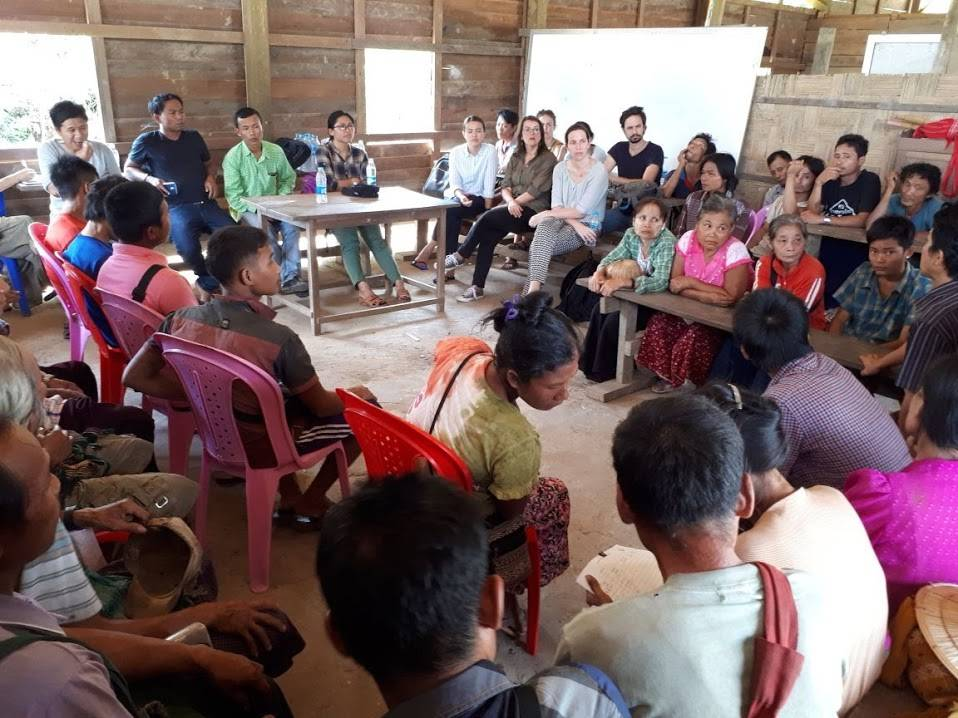 Discussion in village - Myanmar - MOSAIC project