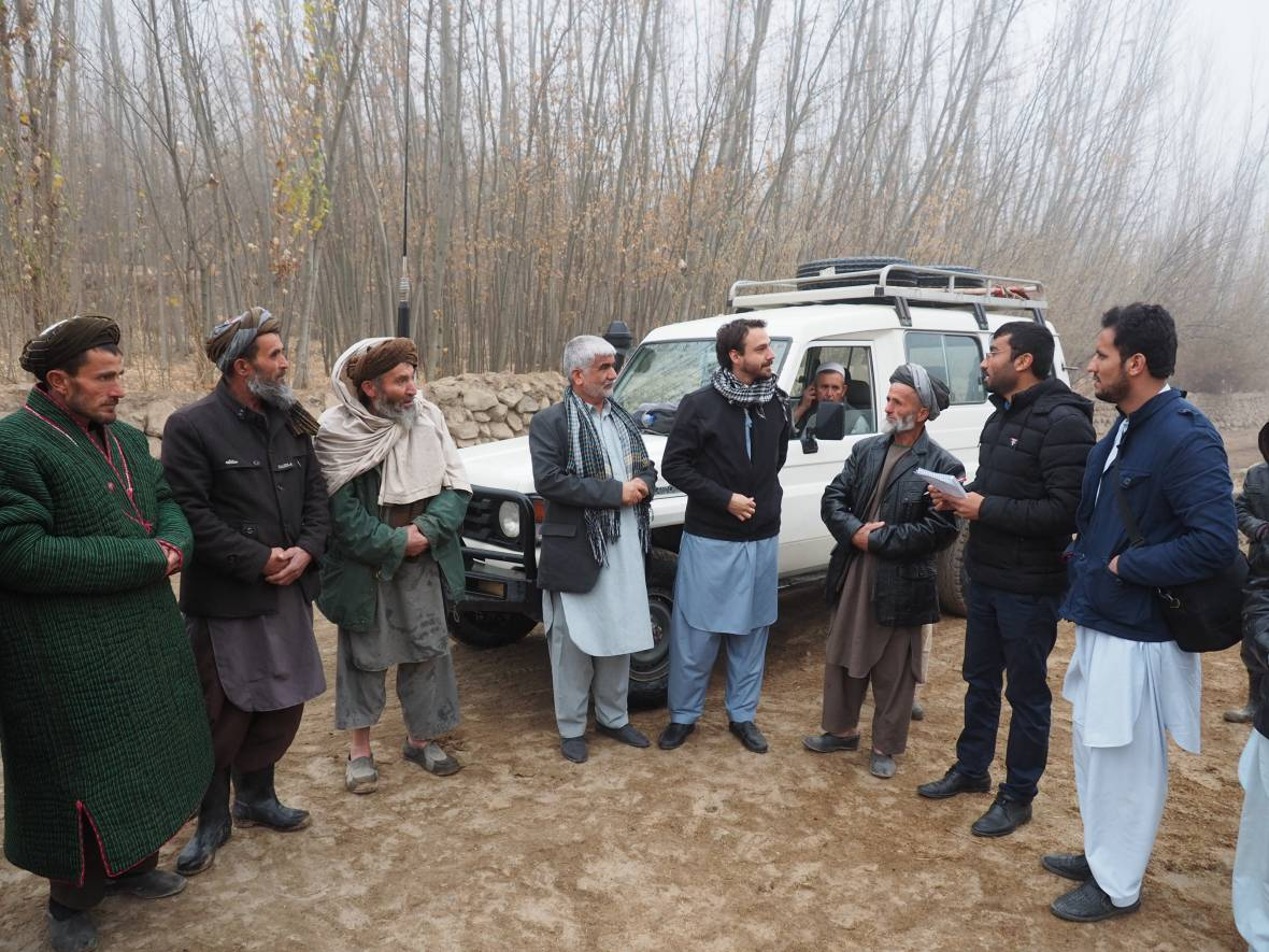 Afghanistan field visit - Rod with local men - When disaster meets conflict