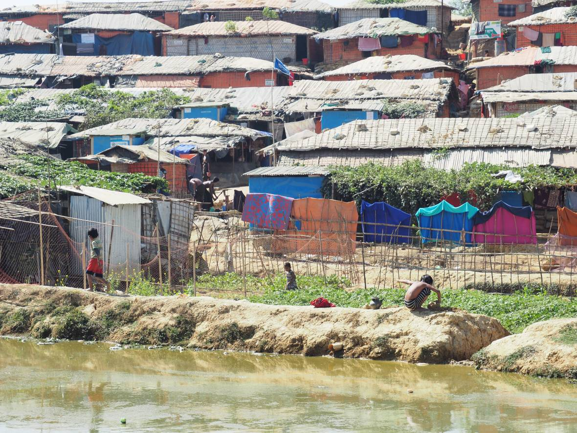 Bangladesh refugee camp across river - When disaster meets conflict