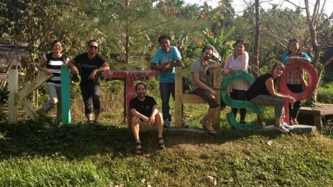 Team on hillside - Myanmar/Cambodia - MOSAIC project