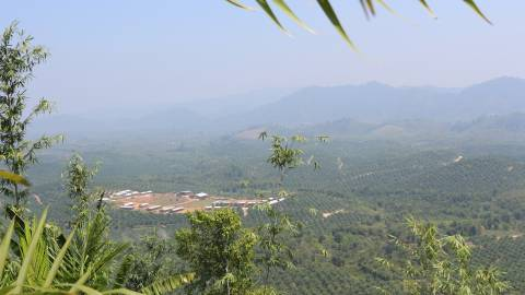 Village from hilltop - Myanmar/Cambodia - MOSAIC project