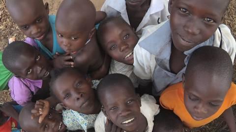 South Sudan visit - children - When disaster meets conflict