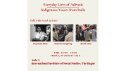 Everyday lives of Adivasis: Indigenous voices from Inda - conference August 2019